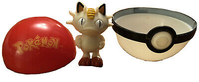 Nintendo PokeBall With Meowth Pokemon - Nintendo Toy 2000 • 8.99£