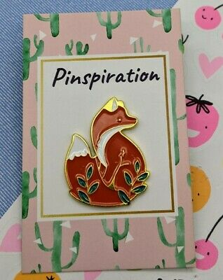 Fox Enamel Pin Badge Gift Animal Lover Wildlife Nature • 3.95£