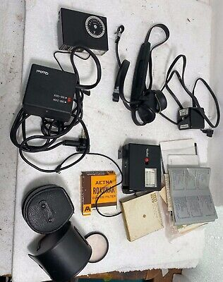 Lot Of 10 - Old Camera Flashes, Lenses & Manuals  • 17.87£