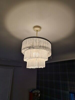 White String Lamp Shade Shabby Chic Lace Type  • 9.99£