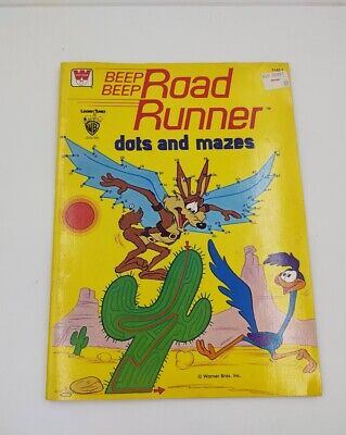 Road Runner Wile E Coyote Dots And Mazes 1979 Whitman Unused Warner Bros • 9.50£
