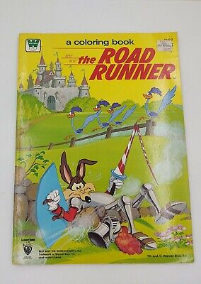 The Road Runner Wile E Coyote Coloring Book 1981 Whitman Unused Warner Bros • 9.50£