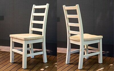 AU350 • Buy Rustic Timber Dining Chairs X8   Country Chic