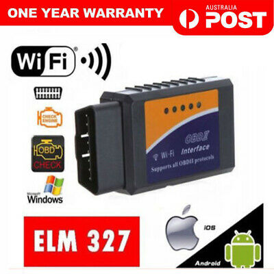 AU17.99 • Buy ELM327 ODB2 OBDII Car WiFi Auto Diagnostic Scanner Code Reader For Android  IOS.