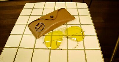 AU400 • Buy Vintage 1960's Bullethole Ray Ban Bausch And Lomb Sunglasses Yellow Lens