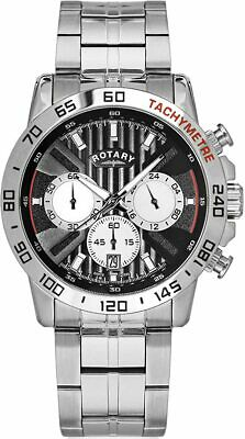 £84.99 • Buy Rotary Exclusive Silver Chronograph Mens Watch GB00051/04