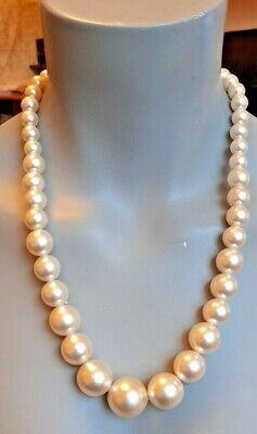 Long Graduated Faux Pearl Necklace  • 3.50£
