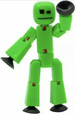Green Original Stikbot Robot Stop Motion Animation Stickbots Figure App Toys New • 10.47£