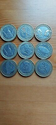 Two Pound Coin Job Lot Rare £2 Pound Coins All 9 Coins • 24.50£