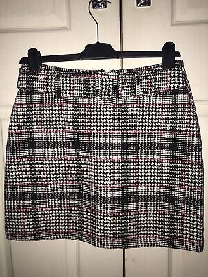 £4.95 • Buy Primark Check Knitted Skirt With Belt Size UK 10 In Excellent Condition
