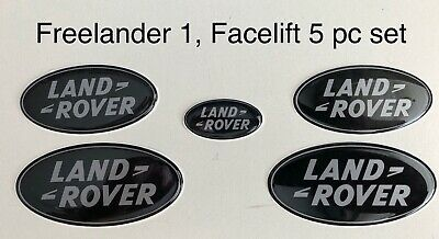 Freelander 5pc Set, Replacement Gel Overlay Badges. Freelander 1. (L314) Non-JLR • 25£