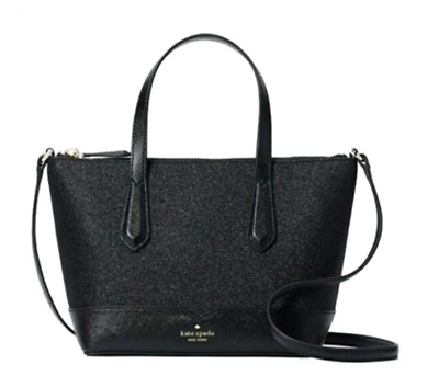 $ CDN92.74 • Buy Kate Spade Lola Greta Ina Joeley Glitter Small Top Zip Satchel Crossbody Bag BLK
