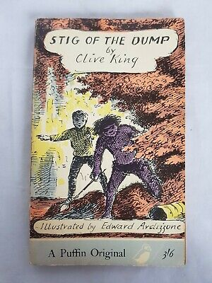 Vintage Puffin Pb Stig Of The Dump By Clive King 1966 - Illustrated Ardizzone • 8.95£