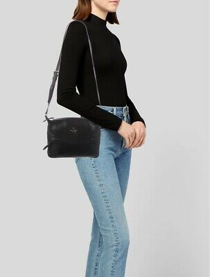 $ CDN59.45 • Buy Kate Spade Black Leather Crossbody Bag Purse