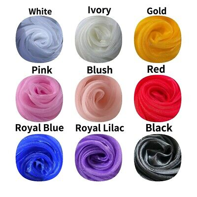 £2.30 • Buy Crystal Organza Voile Wedding Craft Fabric Material Per Metre9 Colours 150cmWide