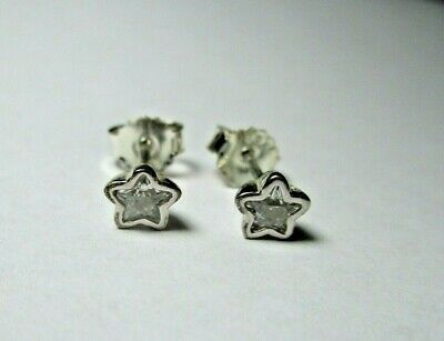 AU33 • Buy PANDORA Earrings - Sparkling Star Silver And Clear CZ Studs - 290597CZ