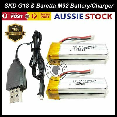 AU37.99 • Buy SKD G18/Beretta M92 7.4v Battery Replacement Gel Blaster Accessories Parts 7-8mm