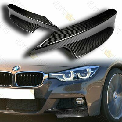 AU130.24 • Buy Fit 2012-2018 Bmw F30 3-series M-sport Real Carbon Front Bumper Splitter Lip