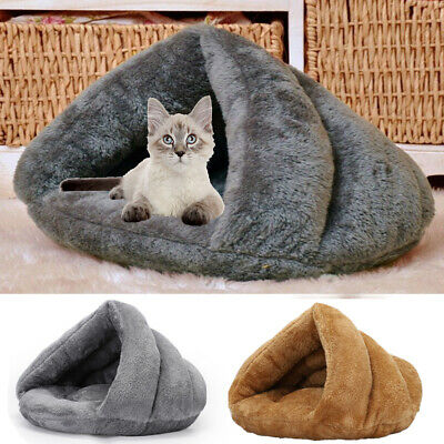 Dog Beds Puppy Cave Pet Bed Cat Bed Warm Cat Nest Sleeping Bag For Pets Large • 13.98£