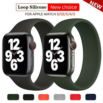 $ CDN5.07 • Buy Silicone Band Strap For Apple Watch Series 1/2/3/4/5/6/SE Sports 38/40/42/44mm