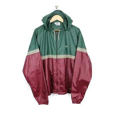Izod Lacoste Vintage 80s Mens 'Pac-a-Mac' Two Tone Lightweight Jacket - Size XL • 49.99£