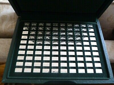 100 Silver Ingots Cars In Display Case By John Pinches • 265£