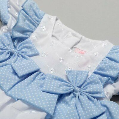 £12.50 • Buy Baby Girls Spanish Style 3 Piece Broderie Anglaise Bow Dress Set 0-9 Months
