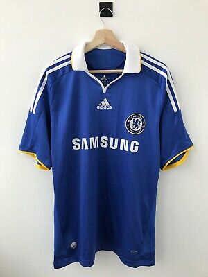 Chelsea London 2008/2009 Home Football Soccer Shirt Jersey Camiseta Adidas Blue • 12£
