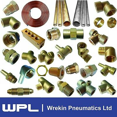 £3.20 • Buy Metric Brass Compression Fitting Range Enot Pipe Connector Copper Tube Fuel