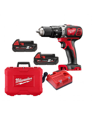 Milwaukee Drill Driver With Percussion 18V 2 Battery Model M18BPD-202C • 216.18£
