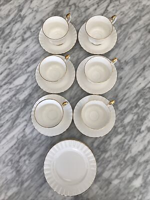 Royal Albert Val D'or Bone China Tea Cups Saucers Bread Plates Set Of 6 Lot • 64.38£