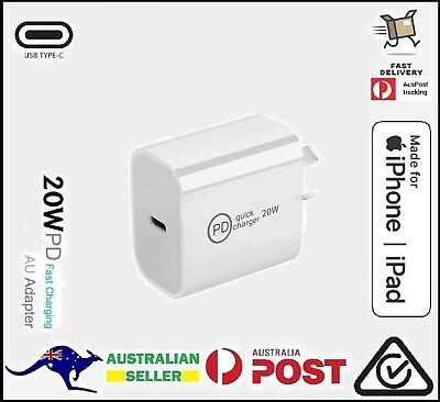 AU13.90 • Buy 20W IPhone 12 Pro Max IPad USB Type C Wall Fast Charger PD Power Adapter AU Plug