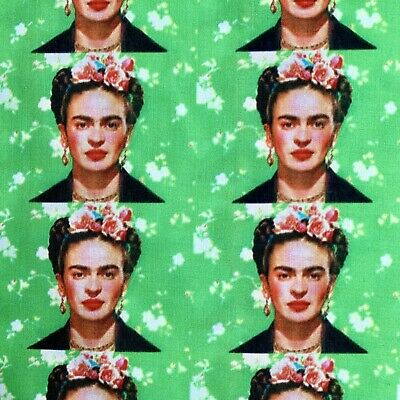 £6 • Buy Offcut Frida Kahlo Mexican Artist Icon Character  Polycotton Fabric