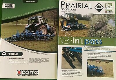 Prairial Carr Farm Machinery Brochure & Leaflet • 3.99£