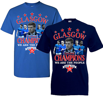 £8.75 • Buy Glasgow Champions Of Scotland 55 T.shirt For Rangers Fans - Size Kids To 5XL