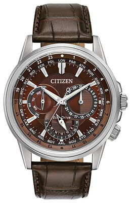 $149.99 • Buy Citizen Eco-Drive Men's World Time Day/Date Leather Strap 44mm Watch BU2020-29X
