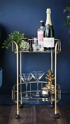 £65 • Buy Deco Glamour Gold  Drinks Trolley. New Unopened. Quick Delivery 🚚