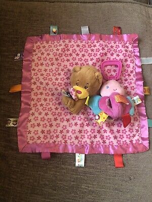 £12.99 • Buy Taggies Pink Teddy Bear Comforter Soft And Pram Toy