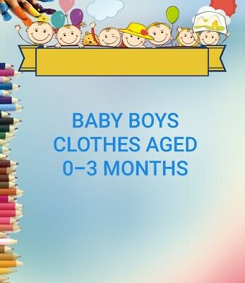£2.99 • Buy Baby Boys Clothes Age 0-3 Months, Make Your Own Bundle, Sleepsuits Tops Rompers