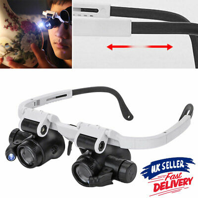 £6.65 • Buy Jeweler Magnifier Watchmaker Light Loupe Head-Mounted Magnifying Glass 2LED Lamp