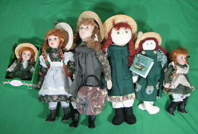 $ CDN29.99 • Buy Lot Of 6 Anne Of Green Gables Dolls 9  To 18  Tall Porcelain Cloth And Rag Doll