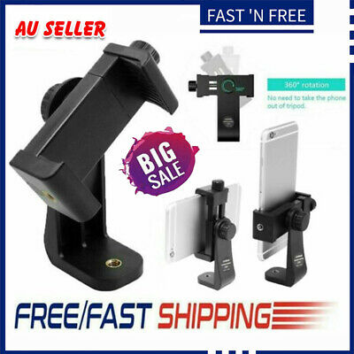 AU9.78 • Buy Smartphone Tripod Adapter Cell Phone Holder Mount For IPhone Camera Universal #T