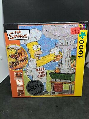 £17.71 • Buy Buffalo Games Photomosaics The Simpsons  Chef Homer  1000 Piece Puzzle W/ Poster