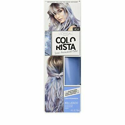 L'Oreal Paris Colorista Semi-Permanent Hair Colour For Blonde Hair, Blue, 180g • 10.64£