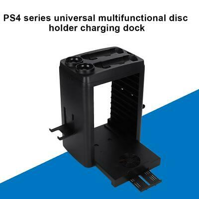 AU64.48 • Buy For PS4 Pro / Slim Vertical Stand + Cooling Fan Controller Charging Dock Station