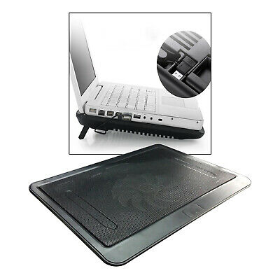New Portable Notebook Laptop Cooler Mat Quiet Gaming Cooling Pad Tray Black • 12.39£