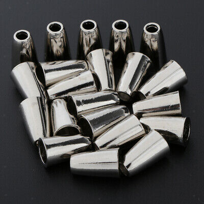 20pcs Metal Zipper Pull Ends Bell Stopper Without Lid Cord Lock End Silver • 3.80£