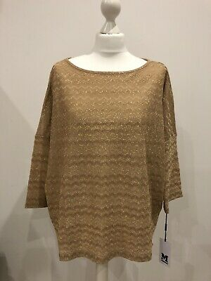 £35 • Buy Missoni Gold Top, Party, Glam, BNWT Size S, Relaxed Christmas