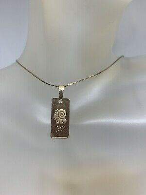 AU145 • Buy 9ct Gold Aries Star Sign Signet Pendent