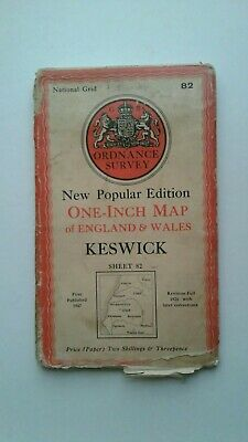 Vintage Keswick Ordnance Survey Map Sheet 82 • 1.99£
